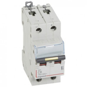 MCB - DX³ - 16 kA - direct current - 12 V= to 500 V= - 2P - 8 A