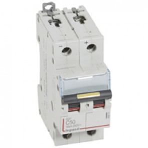 MCB - DX³ - 16 kA - direct current - 12 V= to 500 V= - 2P - 50 A