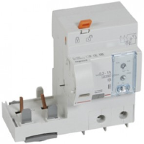 Add-on modules DX³ - 2P-230 V~ -63 A-300/1000 mA adjustable -Hpi type -1.5 modules DX³ MCB