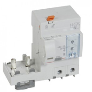 Add-on modules DX³ - 2P-230 V~ -125 A-300/1000 mA adjustable -Hpi type -1.5 modules DX³ MCB