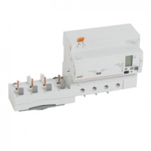 Add-on modules DX³ - 4P- 400 V~ - 63 A- 30/3000 mA- Hpi type / integrated energy meter