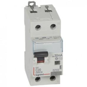 RCBO - DX³ 6000 -10 kA -1P+N-230 V~ -20 A -30 mA -AC type -N right hand