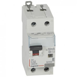 RCBO - DX³ 6000 -10 kA -1P+N-230 V~ -32 A -30 mA -AC type -N right hand