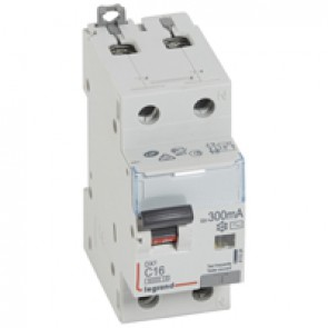 RCBO - DX³ 6000 -10 kA -1P+N-230 V~ -16 A -300 mA -AC type -N right hand