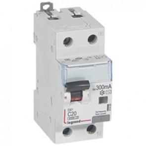 RCBO - DX³ 6000 -10 kA -1P+N-230 V~ -20 A -300 mA -AC type -N right hand