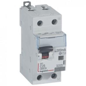 RCBO - DX³ 6000 -10 kA -1P+N-230 V~ -25 A -300 mA -AC type -N right hand