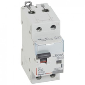 RCBO - DX³ 6000 -10 kA -1P+N-230 V~ -32 A -300 mA -AC type -N right hand