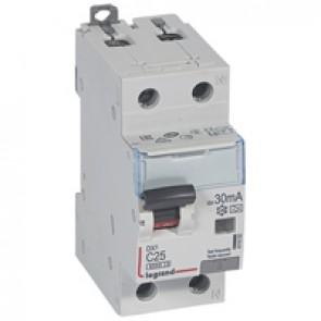 RCBO - DX³ 6000 -10 kA -1P+N-230 V~ -25 A -30 mA -A type -N right hand