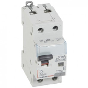 RCBO - DX³ 6000 -10 kA -1P+N-230 V~ -6 A -30 mA -Hpi type -N right hand