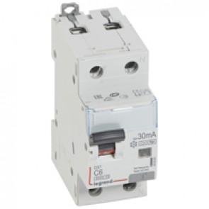 RCBO - DX³ 6000 -10 kA -1P+N-230 V~ -6 A -30 mA -Hpi type -N right hand