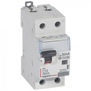 RCBO - DX³ 6000 -10 kA -1P+N-230 V~ -10 A -30 mA -Hpi type -N right hand