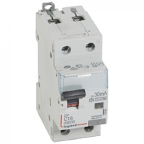 RCBO - DX³ 6000 -10 kA -1P+N-230 V~ -16 A -30 mA -Hpi type -N right hand