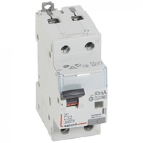 RCBO - DX³ 6000 -10 kA -1P+N-230 V~ -32 A -30 mA -Hpi type -N right hand