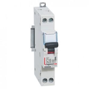 RCBO - DX³ 6000 - 6 kA - 1P+N 230 V~ - 16 A - 30 mA - A type - N left hand
