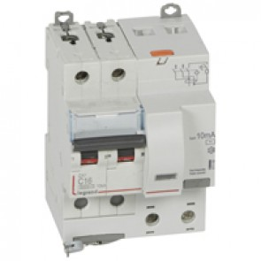 RCBO - DX³ 6000 -10 kA -2P-230 V~ -16 A -10 mA -AC type