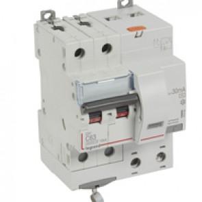 RCBO - DX³ 6000 -10 kA -2P-230 V~ -63 A -30 mA -AC type