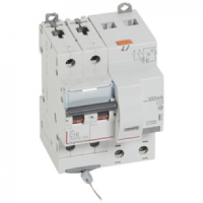 RCBO - DX³ 6000 -10 kA -2P-230 V~ -16 A -300 mA -AC type
