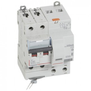 RCBO - DX³ 6000 -10 kA -2P-230 V~ -40 A -300 mA -AC type
