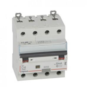 RCBO - DX³ 6000 -10 kA -4P-400 V~ -16 A -30 mA -AC type
