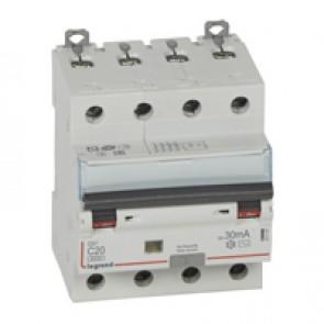 RCBO - DX³ 6000 -10 kA -4P-400 V~ -20 A -30 mA -AC type