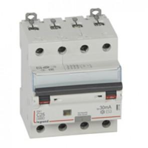 RCBO - DX³ 6000 -10 kA -4P-400 V~ -25 A -30 mA -AC type