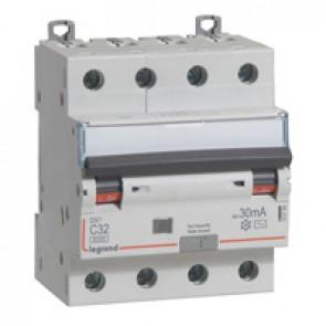 RCBO - DX³ 6000 -10 kA -4P-400 V~ -32 A -30 mA -AC type