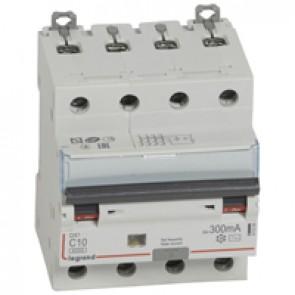 RCBO - DX³ 6000 -10 kA -4P-400 V~ -10 A -300 mA -AC type