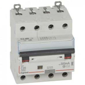 RCBO - DX³ 6000 -10 kA -4P-400 V~ -20 A -300 mA -AC type