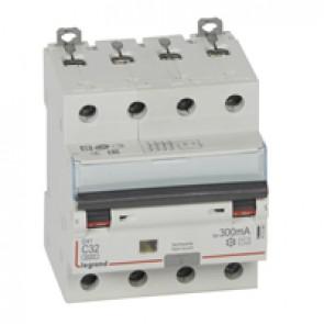 RCBO - DX³ 6000 -10 kA -4P-400 V~ -32 A -300 mA -AC type