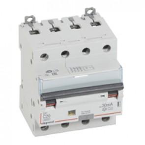 RCBO - DX³ 6000 -10 kA -4P-400 V~ -20 A -30 mA -A type