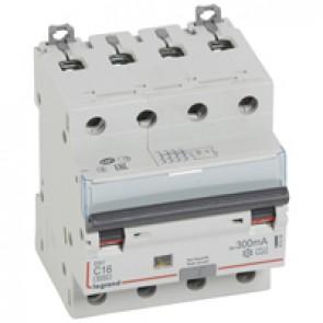 RCBO - DX³ 6000 -10 kA -4P-400 V~ -16 A -300 mA -A type