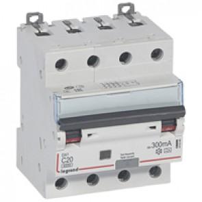 RCBO - DX³ 6000 -10 kA -4P-400 V~ -20 A -300 mA -A type