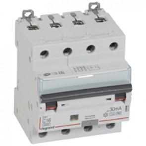 RCBO - DX³ 6000 - 10 kA - 4P 400 V~ - 16 A - 30 mA - Hpi type