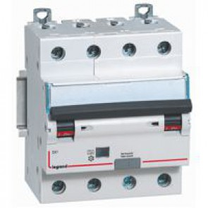 RCBO - DX³ 6000 - 10 kA - 4P 400 V~ - 20 A - 30 mA - Hpi type