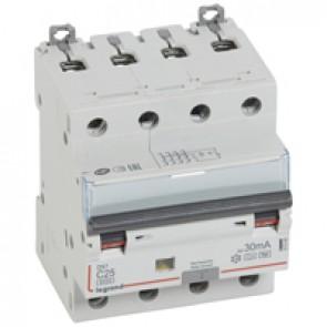 RCBO - DX³ 6000 - 10 kA - 4P 400 V~ - 25 A - 30 mA - Hpi type