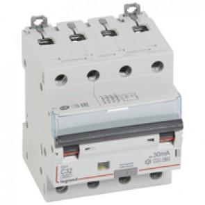 RCBO - DX³ 6000 - 10 kA - 4P 400 V~ - 32 A - 30 mA - Hpi type