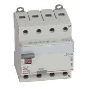 RCD DX³-ID - 4P 400 V~ neutral right hand side - 40 A - 30 mA - AC type