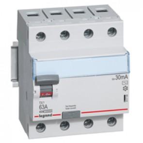 RCCB TX³ - 4P 400 V~ - 30 mA - 63 A - AC type