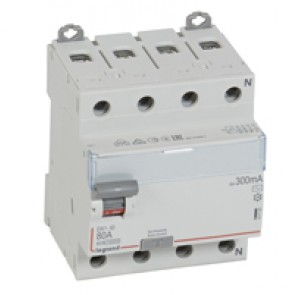 RCD DX³-ID - 4P 400 V~ neutral right hand side - 80 A - 300 mA - AC type