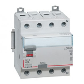 RCD DX³-ID - 4P 400 V~ neutral right hand side - 40 A - 30 mA - A type