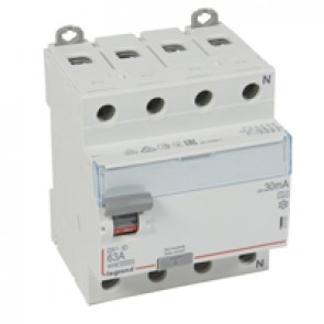 RCD DX³-ID - 4P 400 V~ neutral right hand side - 63 A - 30 mA - A type