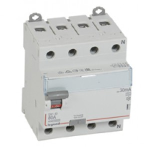 RCD DX³-ID - 4P 400 V~ neutral right hand side - 80 A - 30 mA - A type