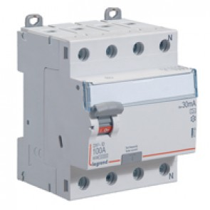 RCD DX³-ID - 4P 400 V~ neutral right hand side - 100 A - 30 mA - A type