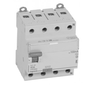 RCD DX³-ID - 4P 400 V~ neutral right hand side - 40 A - 100 mA - A type