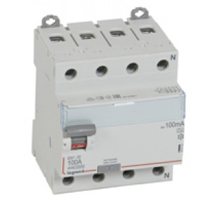 RCD DX³-ID - 4P 400 V~ neutral right hand side - 100 A - 100 mA - A type
