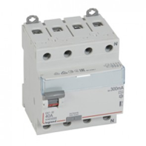 RCD DX³-ID - 4P 400 V~ neutral right hand side - 40 A - 300 mA - A type