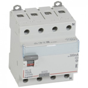RCD DX³-ID - 4P 400 V~ neutral right hand side - 100 A - 300 mA - A type