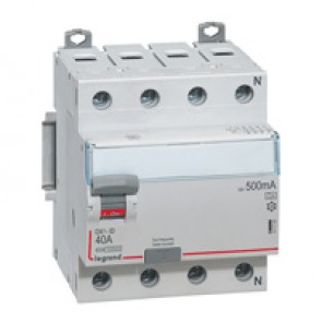 RCD DX³-ID - 4P 400 V~ neutral right hand side - 40 A - 500 mA - A type