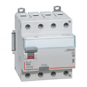 RCD DX³-ID - 4P 400 V~ neutral right hand side - 80 A - 500 mA - A type