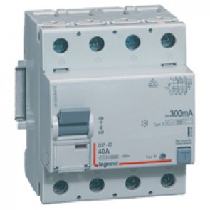 RCD DX³-ID - 4P 230 V~ - 40 A - 300 mA - B type - neutral on left-hand